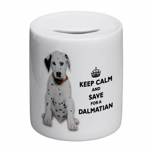 Keep Calm And Save For A Dalmatian Novelty Ceramic Money Box